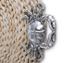 Twisted Seagrass Placemats with Pewter Crabs - Set of 4 close up detail