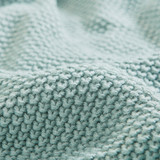 Aqua Blue Bree Knit Euro Sham close up pattern