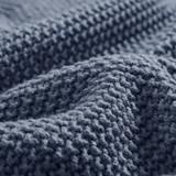 Indigo Blue Bree Knit Throw close up