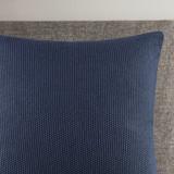 Indigo Blue Bree Knit Euro Sham room view