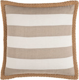 Wharf Stripe Jute Braided Trim 18 x 18 Pillow front