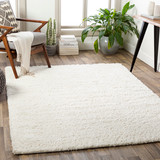 Big Sur White Shag Rug room example