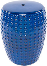 Delmar Royal Blue Ceramic Garden Stool
