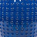 Delmar Royal Blue Ceramic Garden Stool close up