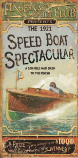 Speed Boat Spectacular Art Sign