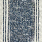 Luxury Balboa Indigo Striped Pillow close up fabric