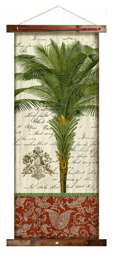 French Palm II Canvas Tapestry Wall Art