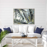 Palms in the Sky Giclee Framed Print room example