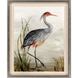 Majestic Grey Heron Art