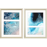 Silver Framed Sea Dance -Set of Two