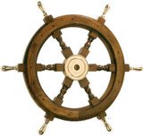 Rosewood Ship's Wheel 30 inches