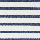 Charlize Nautical Navy Striped 18 x 18 Pillow close up fabric