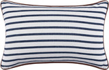 Charlize Nautical Navy Striped 14 x 22 Pillow