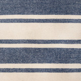Charlize Denim Ticking Striped Pillow fabric close up