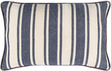 Charlize Denim Ticking Striped 14 x 22 Pillow