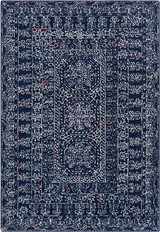 Ionian Blue Hand-Tufted Wool Area Rug