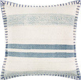 Laguna Denim Blanket Stitched 20 x 20 Pillow
