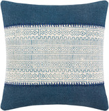Laguna Denim Hand-Embroidered Boho 20 x 20 Pillow