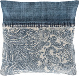 Laguna Denim Paisley Printed 20 x 20 Pillow