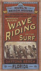 Wave Riding Surf Custom Beach Sign