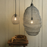 Bristol Looped Wire Small Pendant Lighting room view with larger size