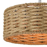 Weaverton Roped 3-Light Pendant in Oil Rubbed Bronze close up shade
