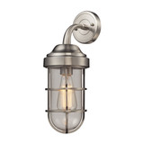 Seaport I Satin Nickel Wall Sconce