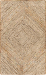 Saba Woven Diamond Pattern Jute Area Rug