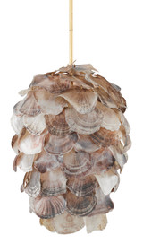Cruselle Layered Shell Chandelier light off
