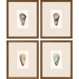 Ocean Blades Oyster Art - Set of Four