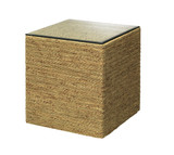 Captain Square Glass Topped Side Table