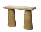 Skipper Seagrass Wrapped Console Table