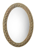 Lark Braided Framed Oval Mirror