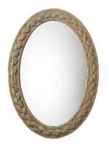 Lark Braided Framed Oval Mirror
