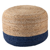 Oliana Ombre Blue Cylinder Pouf - Small