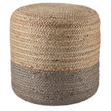 Oliana Ombre Taupe Cylinder Pouf - Large