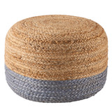 Oliana Ombre Grey-Blue Cylinder Pouf - Small view 1