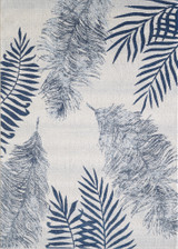 Navy Island Flora Plush Rug