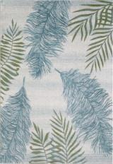 Aqua Island Flora Plush Rug