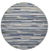 Blue Denni Striped Rug round