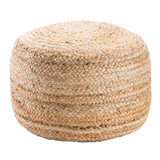 Dune Cylinder Jute Woven Pouf