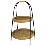 Cayman Rattan 2-Tier Serving Stand