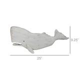Melville White Sperm Whale Wall Decor measurements