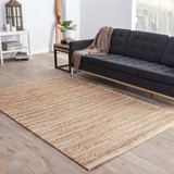 Canterbury Natural Solid Tan-White Woven Area Rug room example