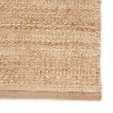 Canterbury Natural Solid Tan-White Woven Area Rug edge