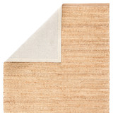 Canterbury Natural Solid Tan-White Woven Area Rug backing
