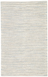 Canterbury Natural White and Blue Stripe Woven Area Rug