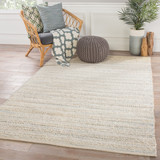 Canterbury Natural White and Blue Stripe Woven Area Rug room example