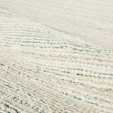 Canterbury Natural Seaglass Stripe Woven Area Rug close up detail