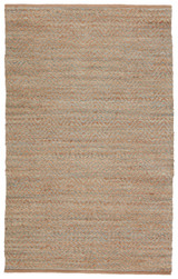Natural and Sea Green Chevron Stripe Jute Area Rug